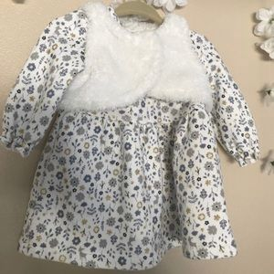Warm Carter's Just One You Baby Dress with Vest 6M